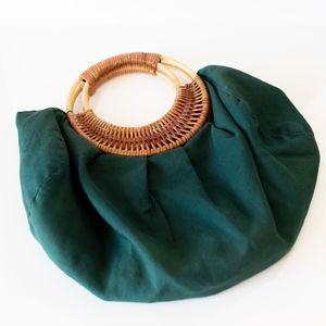 Vintage Green Purse 1940s Style / Handbag / Pinup